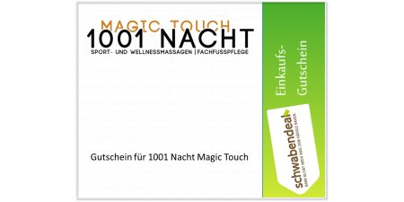 Gutschein - 1001 Nacht Magic Touch
