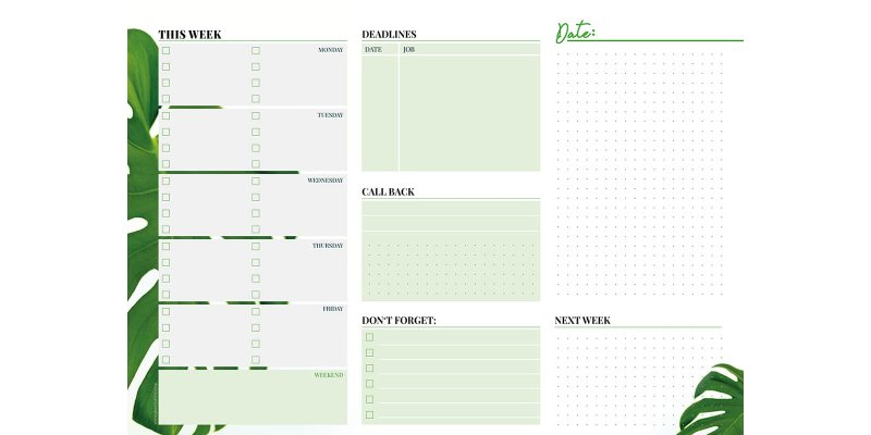 Weekly Planner – Eat. Sleep. für 6,95 € statt 8,95 €